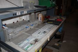 LOT CONSISTING OF: misc. tools, drill bits, paint (unused), etc. (located on top & underneath
