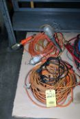 LOT CONSISTING OF: extension cords & worklights