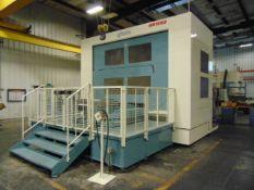 4-AXIS HORIZONTAL MACHINING CENTER, NIIGATA MDL. HN100D, new 2011, Fanuc 30i - Model A CNC