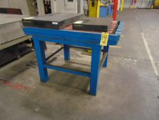 """T-SLOTTED TABLE, 56"""" X 39"""" X 5"""", on steel stand"""
