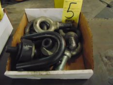 LOT OF EYE BOLTS, assorted (in one box)