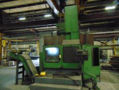 """CNC VERTICAL BORING MILL, OLYMPIA MDL. MDL. V60, Fanuc 16T CNC control, 55"""" faceplate w/ (4)"""