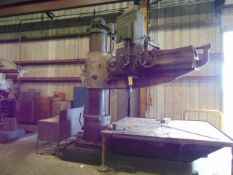 """RADIAL ARM DRILL, CINCINNATI BICKFORD 6' X 19"""", pwr. clamp, feed and elevation, S/N 6E-493 ("""