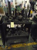 LOT OF CAT-50 TAPER TOOL HOLDERS (47), w/ cart, assorted