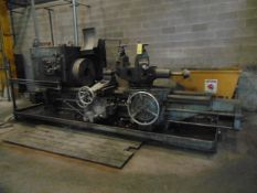 """TURRET LATHE, WARNER & SWASEY 4A MDL. M-3550, 9.5"""" bore, 24"""" 3-jaw chuck, S/N 1546007 (Loading"""