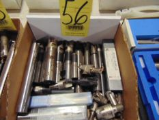 LOT OF INSERT END MILLS, assorted (in one box)