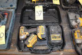 IMPACT DRIVER, DEWALT 20V, battery pwrd., w/charger & extra battery
