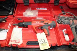 POWDER ACTUATED FASTENING NAIL GUN, HILTI MDL. DX460