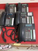 LOT CONSISTING OF NORTEL NETWORK PHONE SYSTEM CSU AND (7) HANDSETS, TIME CLOCK, LATHEM, MDL 1600E