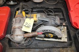 LOT CONSISTING OF: angle grinder, circular saw, reciprocating saw (all electric)