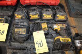LOT CONSISTING OF: (6) Dewalt battery chargers & Dewalt 20V impact driver