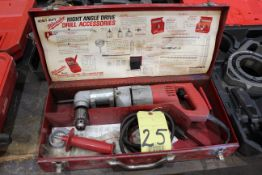 ELECTRIC RIGHT ANGLE DRILL, MILWAUKEE, H.D.