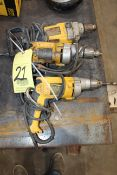 LOT OF ELECTRIC DRILLS