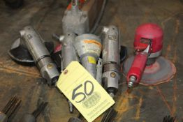 """LOT CONSISTING OF: (3) 5"""" pneumatic angle grinders & (1) pneumatic sander"""