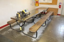 PICNIC TABLE, w/stainless steel top