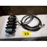 LYNUCH PRODUCTS, 6 STATION HYDRAULIC VALVE MANIFOLD WITH BOSCH & VICKERS DIRECTIONAL VALVES, 4600