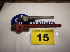 LOT OF TWO PIPE WRENCHES