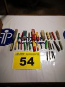 LOT OF (30) ASSORTED, INCH, MACHINE TAPS