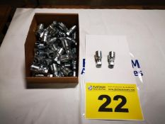 LOT OF ASSORTED J.I.C HYDRAULIC COMPRESSION FITTINGS, NEW