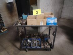 BRIGHTON, HARDWARE CART WITH ASSORTED INCH BOLTS
