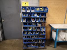 STEEL DOUBLE SIDED ROLLING STORAGE CART WITH ASSORTED HYDRAULIC FITTINGS