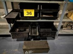LOT OF LARGE PLASTIC ESD STACKING BINS
