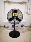 """LASKO, 36"""" DIAMETER PEDESTAL SHOP FAN, NSC-243 1/4 HP 110 VAC, NEW"""