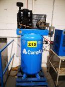 COMPAIR, KD3-5C8V36, 5 HP, VERTICAL, TANK MOUNTED, PISTON TYPE AIR COMPRESSOR, 100 GALLON TANK,