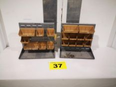 LOT OF 2 TABLE TOP STORAGE BINS