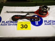 """LOT OF RIGID 1"""" TO 2"""" HAND PIPE THREADER WITH CHAIN WRENCH"""