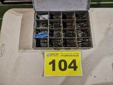 LOT OF ASSORTED INCH MACHINE TAPS WITH CASE