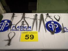 LOT OF ASSORTED MACHINIST LAY OUT TOOLS