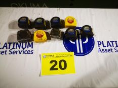 LOT OF ASSORTED TAPE MEASURES