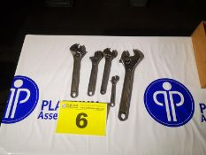 ASSORTED ADJUSTABLE WRENCHES