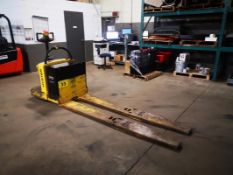 """HYSTER, B80Z, 8000 LBS., BATTERY POWERED PALLET TRUCK, SOLID CUSHION TIRES, 28"""" W X 96"""" L FORKS, 10"""""""