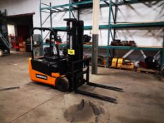 """HANGCHA, CPDS181-01, 2600 LBS, BATTERY POWERED FORKLIFT, 3 STAGE MAST 189"""" MAX LIFT, SIDE SHIFT, 47"""""""