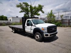 2016 FORD, F550 SUPER DUTY, 15' FLATBED TRUCK