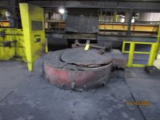 Inductotherm Mainline Furnace, 7000 kw, 60 Hz, 10 Ton Capacity, (2) Shells, Accessories on Deck,