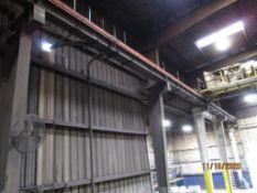 LOT: 120 ft. Overhead Crane Runway, with Electrics (LOCATED IN COLUMBIANA, AL)