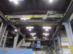 Bohl 10 Ton Twin-Girder Bridge Crane, 43 ft. (est.) Span, Pendant (no runway) (LOCATED IN