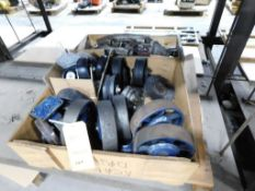LOT: Assorted Caster Wheels & Shears on (1) Pallet