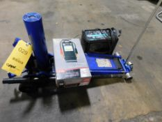 LOT: Forklift Jack, Battery Charger, Battery Tester