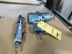 LOT: 3/4 in. Pneumatic Impact Wrench & 3/8 in. Ratchet