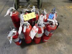 LOT: (9) Assorted Fire Extinguishers
