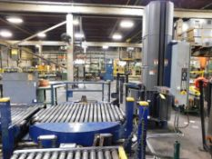 LOT: Lantech 60 in. High x 60 in. Dia. Power Roller Bed Rotary Pallet Wrapper, with Assorted Power