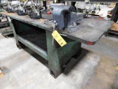 8 ft. x 3 ft. x 1-1/2 in. Steel Fabrication Table with Wilton 8 in. Vise