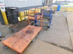 LOT: (7) Flat Carts