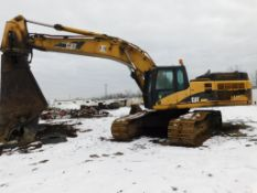 2006 Caterpillar Excavator Model 345C, S/N PJW00845, with Labounty Model 990 Rotating Shear
