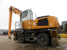 2014 Liebherr Elevated Cab Solid Tire Material Handler Model LH60M Litronic, S/N WLH21204E2K074077,