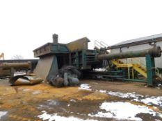 Harris Hydraulic Scrap Baler Model TG2229B, S/N 2787, 6 ft. x 2 ft. x 2 ft. Max. Bale Size, 6 ft.